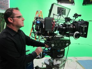 bob bekian shooting a commercial