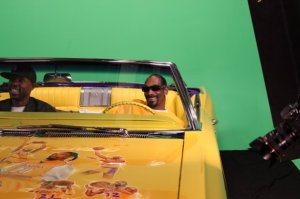 Snoop Dogg shooting a commercial at Loyal Studios