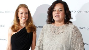 Actress Rosie O'Donnell and fiancee Michelle Rounds