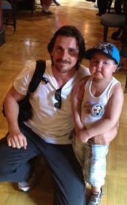 Christian Bale and Jayden Barber