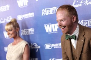 Jesse Tyler Ferguson, right, and Jaime Pressly attend the Variety and Women in Film Pre-Emmy Event at Scarpetta last Friday