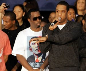 Jay-Z speaks to Barack Obama