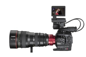 Canon C-300 Camera system with Canon a Cinema lens