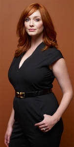 "Christina Hendricks, shown here at the 64th annual Prime Time Emmy Awards, has been praised for her curvaceous body, but doesn't appreciate being called ""full-figured."""