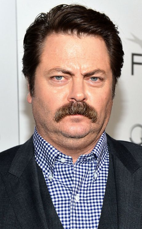 Stars in 'Staches! Nick Offerman shows off his new 'stache for Movember!