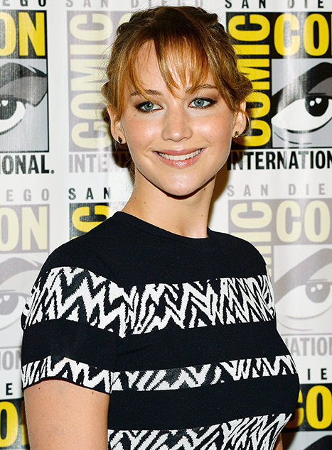 Actress Jennifer Lawrence at Comic Con, San Diego