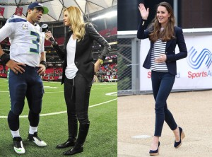 Erin Andrews channels Kate Middleton